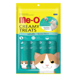 Me O creamy treats bonito flavor 15gm 4pc sbpetshop