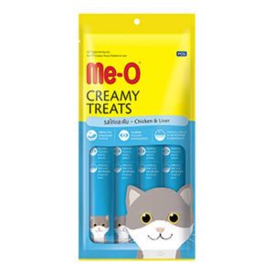 Me O creamy treats chicken liver flavor 15gm 4pc sbpetshop