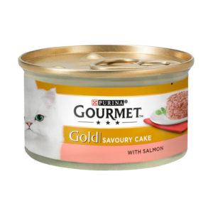 gourmet gold savoury cake with salmon 85gm sbpetshop