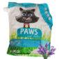 paws clumping cat litter lavender 4.5kg sbpetshop