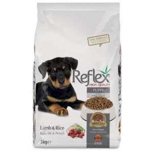 reflex puppy food lamb rice flavor 3kg sbpetshop