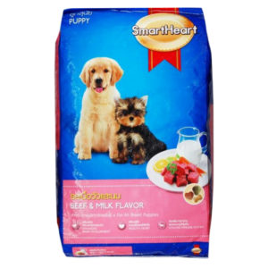 smart heart puppy food beef and milk flavor 3kg sbpetshop