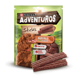 adventuros sticks buffalo wild flavour 120gm sbpetshop