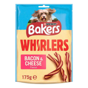 bakers whisrlers delicious meaty treats bacon cheese 175gm sbpetshop